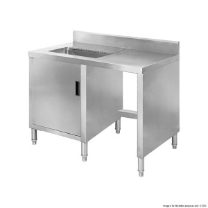 Sink Cabinet workbench with splashback BT05S
