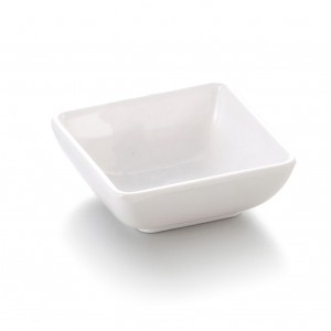 Melamine Square Sauce Dish White - 7.5 x 7.5 x 2.7cm
