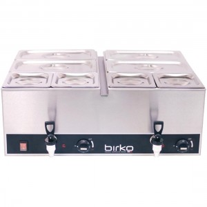 Birko 1110102 Bain Marie Double Tap with Pans & Lids