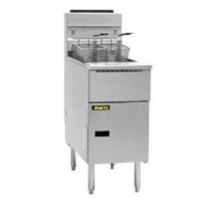 Anets ASG14TS Split Pot Gas Tube Fryer