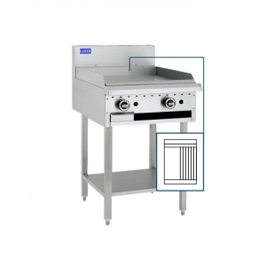 LUUS BCH-3P3C – 600mm Wide Essentials Grill & Chargrill With Shelf