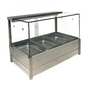 BM11SD Heated Wet Six × ½ Pan Bain Marie Square Countertop Display
