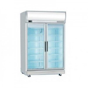 Bromic GD1000LF Upright Double Glass Door Chiller w/Lightbox - 976 Litre