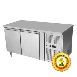 Snowman Download BrochureCAD Stainless Steel 2 Solid Doors Undercounter Bench Freezer