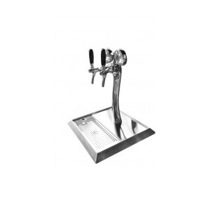 Two Way Beer Tower with tap, led chrome plated - BTS-2W