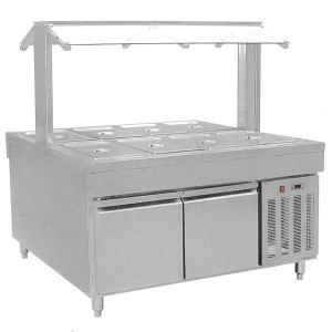 BS8C Refrigerated Buffet Bain Marie Centre Servery