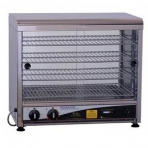 Roband PW50 Curved Top Pie & Food Warmer - 50 Pie Capacity