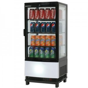 Bromic CT0080G4BC Countertop Beverage Chiller Curved Glass Black - 80 Litre