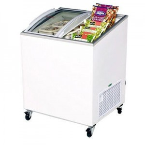 Bromic CF0200ATCG Angle Top Curved Glass Chest Freezer - 176 Litre