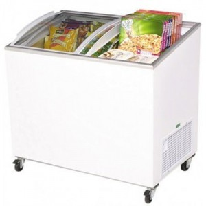 Bromic CF0300ATCG Angle Top Curved Glass Chest Freezer - 264 Litre