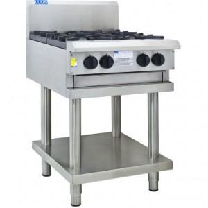 LUUS CS-4B – 600mm Wide Professional Cooktop 4 Burners With Shelf