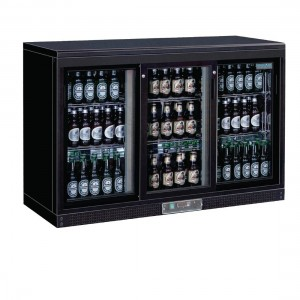 Polar Three Sliding Door Back Bar Cooler-DL819-A