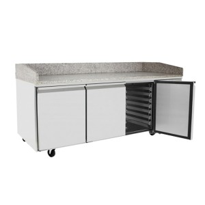Atosa EPF3485 3 Door Refrigerated Pizza Table 2010mm