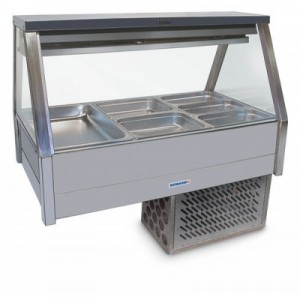Roband ERX26RD Straight Glass Food Bar - Refrigerated Cold Plate & Cross Fin Coil