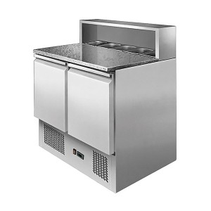Atosa ESL3831 Two Doors Pizzatable Marble Top Saladette 900mm