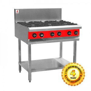Fuoco F6OBS Commercial 6 gas burner cooktop