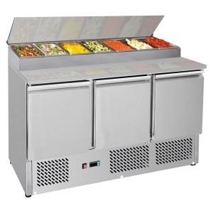 GNS1300D Three Door Compact Salad Prep Top