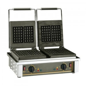 Roller Grill GED 20 Waffle Machine - Double 4 x 6 sq