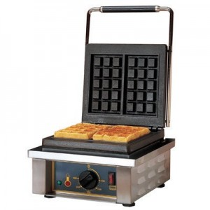 Roller Grill GES 10 Waffle Machine - Single 3 x 5 sq