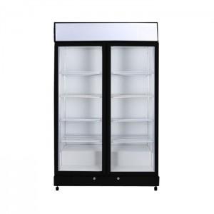 Bromic GM1000LB LED ECO Black Glass Door Chiller w/Lightbox - 960 Litre