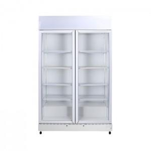 Bromic GM1000L LED ECO White Glass Door Chiller w/Lightbox - 960 Litre