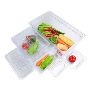 JW-P162 - Clear Poly 1/6 x 65 mm Gastronorm Pan
