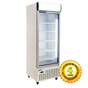 HUXFORD  Single Glass Door Upright Fridge Merchandiser