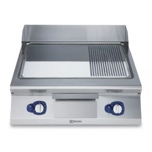 Electrolux 700 XP Series E7IIMDAOMEA 800mm wide Electric Griddle with Ribbed and smooth Chrome Plate