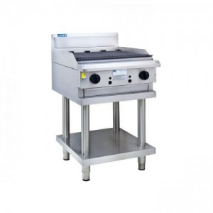 LUUS CS-6C – 600mm Wide Professional Chargrill With Shelf