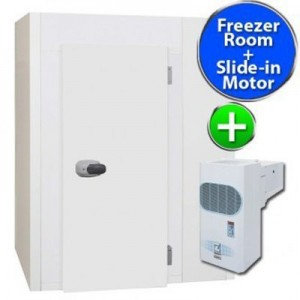 Bromic Matrix II - BUNDLE - Heavy Use - Modular Freezer with heated door 1.8 x 1.4 - Slide In MOTOR