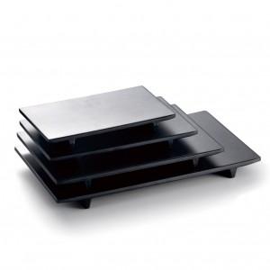 "Melamine Retangular Sushi Plate Matte Black 10.5""- 27.1 x 17.9 x 2.3cm"
