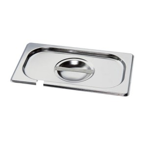 MIXRITE  P11000 Stainless Steel Lids with Cut for Spoon 530mm