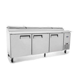 Atosa MPF8203 Three Door Pizza Prep Table Refrigerator 2362mm