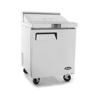 ATOSA MSF8301 Single Door Sandwich Prep Table Refrigerator