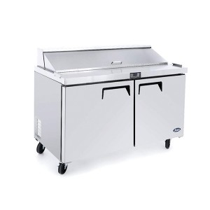 ATOSA MSF8302 Double Door Sandwich Prep Table Refrigerator 1225mm
