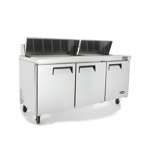 ATOSA Three Door Sandwich Prep Table Refrigerator