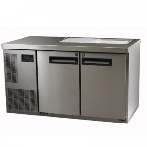 Skope PG250PREP-2 Pegasus Horizontal 1/1 Series Two Doors Prep Fridge - 1331mm
