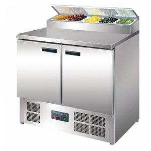 Polar G604-A Double Door Refrigerated Prep Counter