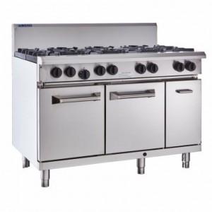 LUUS RS-6B3C – 1200mm Professional Oven, 6 Burners & 300mm Char