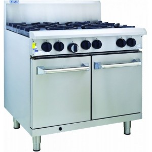 LUUS RS-2B6P – 900mm Professional Oven, 2 Burners & 600mm Grill