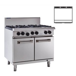 LUUS RS-9P – 900mm Wide Professional Oven & 900mm Grill