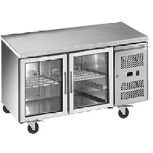 Exquisite SSC260G Snack Size Under Bench Chiller - Glass Doors