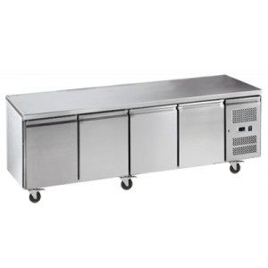 Exquisite SSC550H Snack Size Under Bench Chiller - Solid Doors