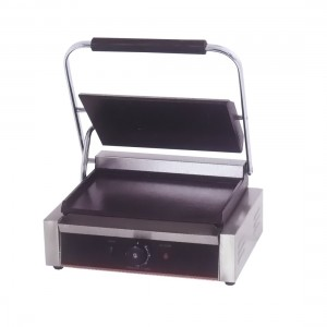 Electric Contact Grill Single Top Grooved and Bottom Flat 2.2KW - TCG-811ECKW