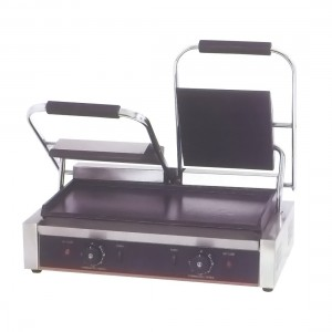 Electric Contact Grill Double Top Grooved and Bottom Flat 1.8KW+1.8KW - TCG-813CKW