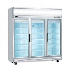 Bromic UF1500LF Triple Glass Door Fan Forced Freezer w/Lightbox