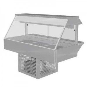 Woodson W.CFS24 Cold Food Bar - Straight Glass 1030mm