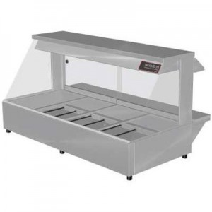 Woodson W.HFC24 Hot Food Bar - Curved Glass 1355mm