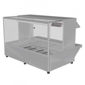 Woodson W.HFSQ23 Hot Food Bar - Straight Glass 1030mm