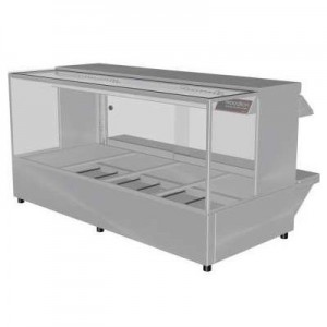 Woodson W.HFSQ24 Hot Food Bar - Straight Glass 1355mm